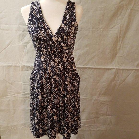 Anthropologie Dresses & Skirts - Fei Anthropologie Scribble Surplice Dress Pockets
